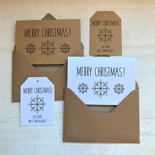 Snowflake Scandi Christmas Cards
