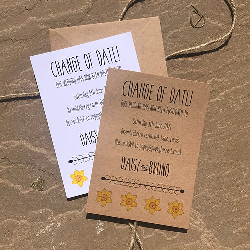Daffodil Change The Date Cards