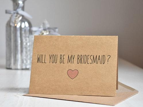 Rustic Heart Bridesmaid Proposal - Kraft