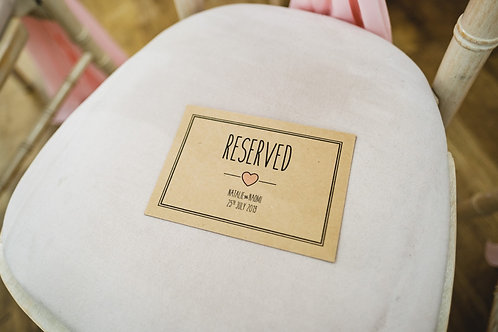 Reserved Sign - Rustic Heart