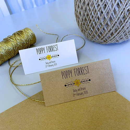 Daffodil Place Name Cards