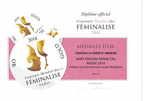 DIPLOME MEDAILLE OR MADELEINE 2014130420