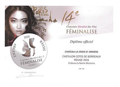 Médaille_d'Argent_Feminalise_Castillon_
