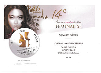 Médaille_d'Or_Feminalise_2020_Guerin_Be