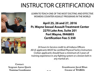 WARDA Train the Trainer Instructor Certification at Ft. Wayne IN