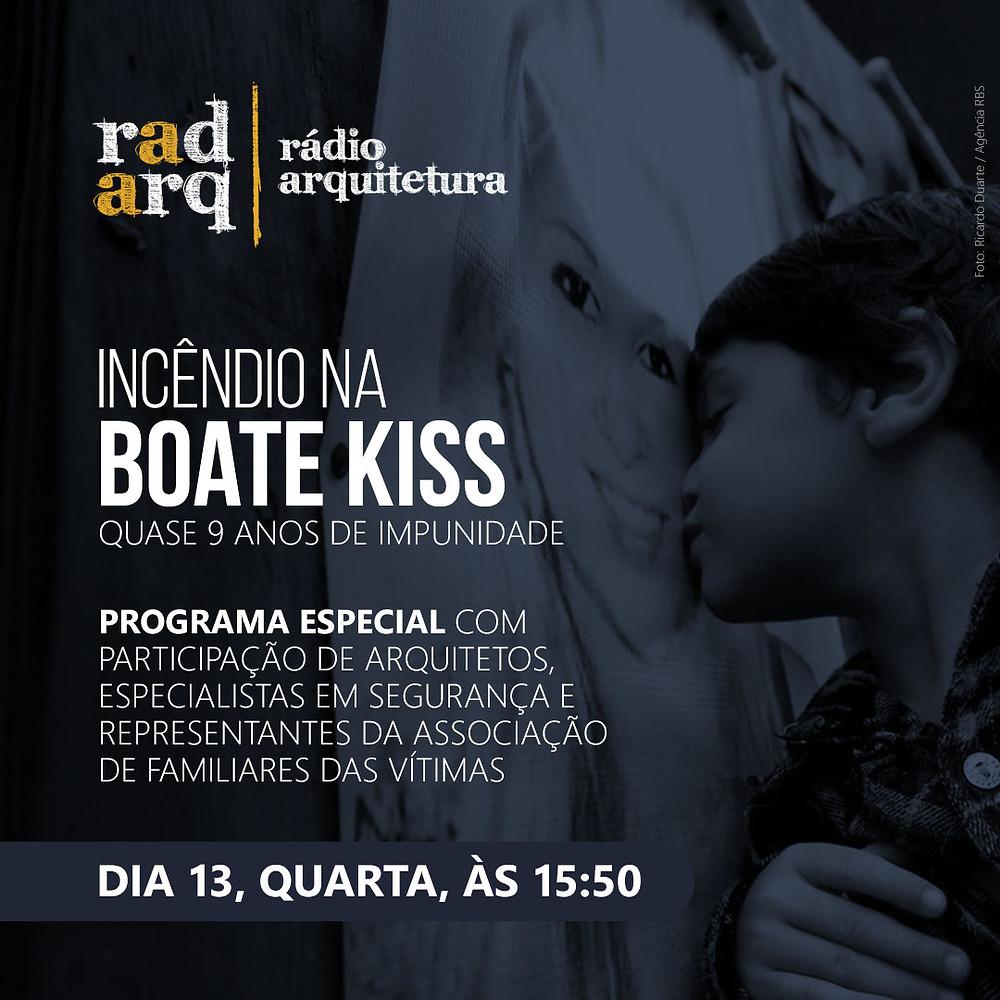 Card do programa especial Incêndio na Boate Kiss