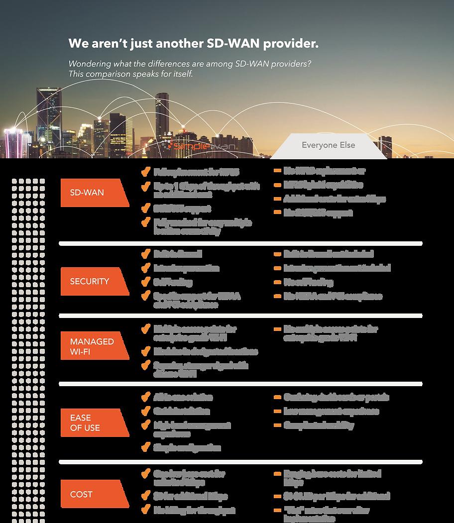 Comparison of SimpleWan features vs everyone else.