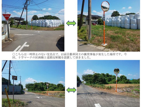活動報告(道路反射鏡設置)