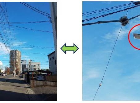 通行人の安全を守る防犯灯の設置