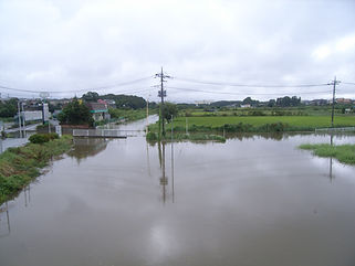 江川の冠水