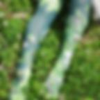 緑の花柄タイツ