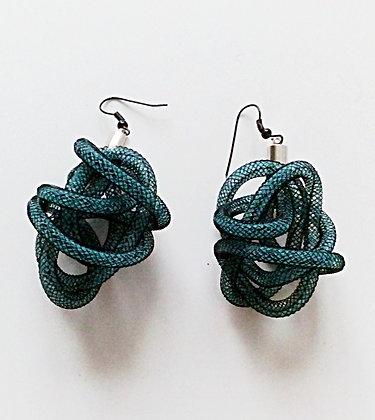 Petit Cobra bicolor boucles d'oreilles (choix de couleurs)