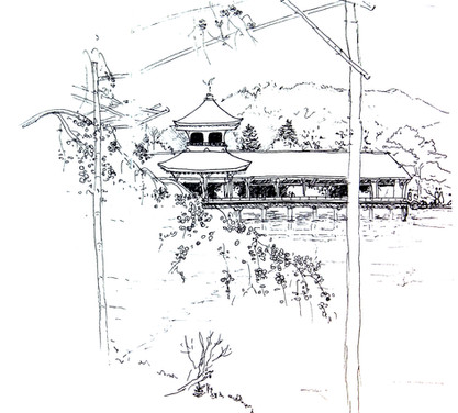 kyoto garden croquis Laurène Moraglia ©