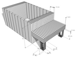 conception jardinière-banc en bois