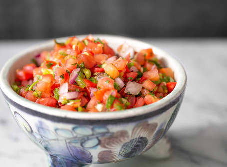 Tomatoes are on - which means, SALSA!