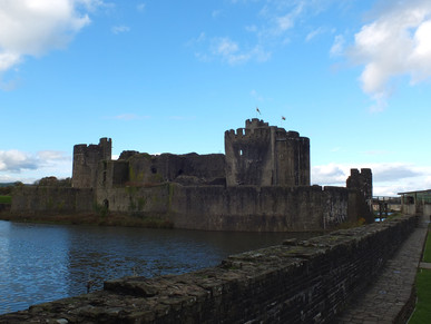 Caerphilly Castle!