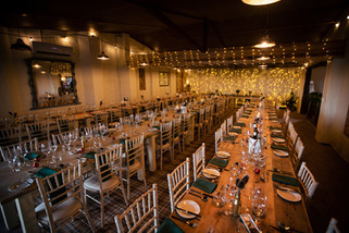 The venue set up for Sophie and Matt's winter wedding