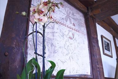 Wattle and daub wall painting