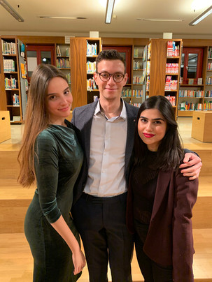 With pianist Ela Cansu Bekgöz und filmmaker Nelson Berger