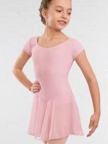 Pink skirted leotard