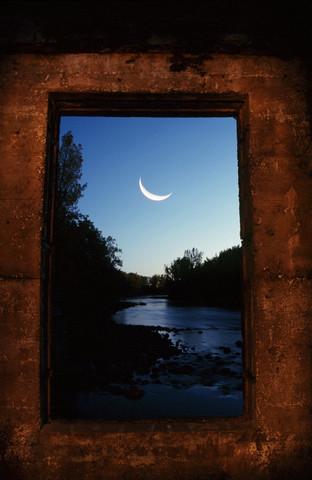 Moon in Window