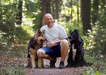 Hundetrainer mit Hunden