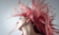 long flowing pink hair