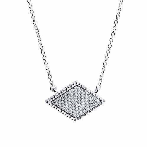 pave pendant necklace