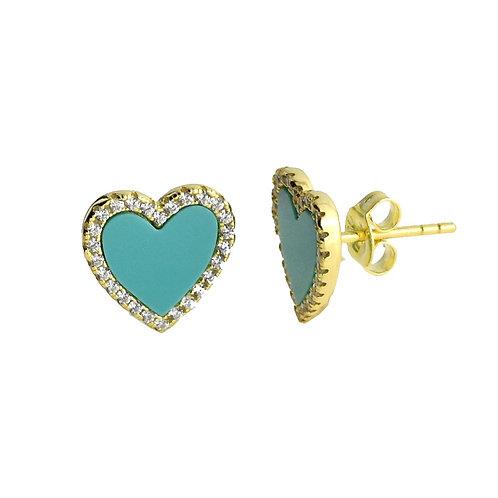 turquoise heart earring