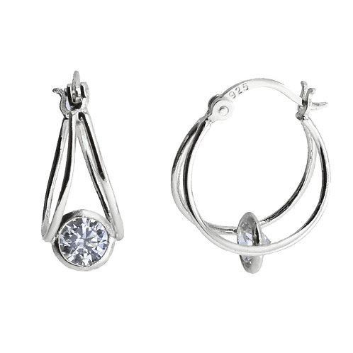 birdcage double hoop earring