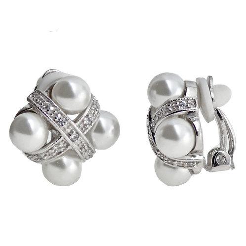 pearl clip earring