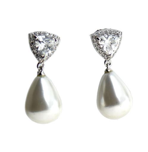 Pearl Earring 925 Sterling Silver Drop