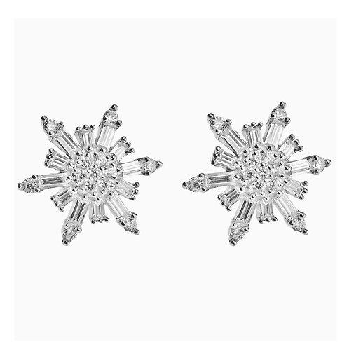 snowflake baguette earring