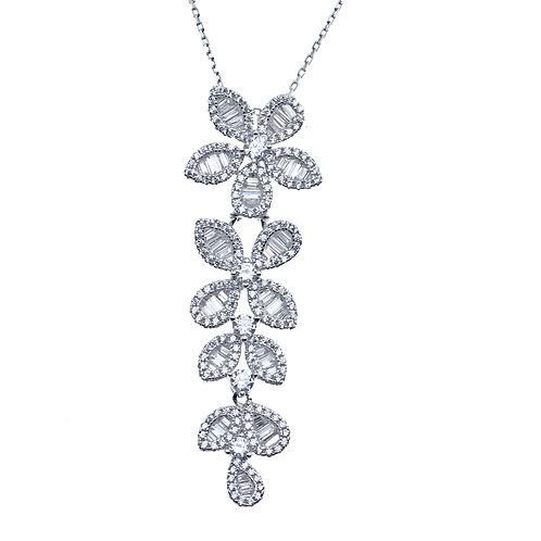 baguette flower pendant
