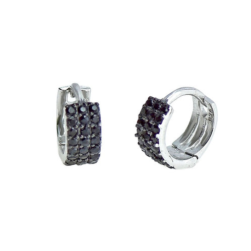 sterling silver mini huggie hoop earring