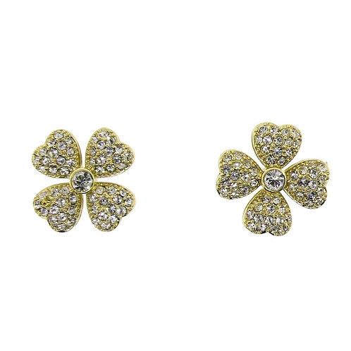 four leaf pave clover earring