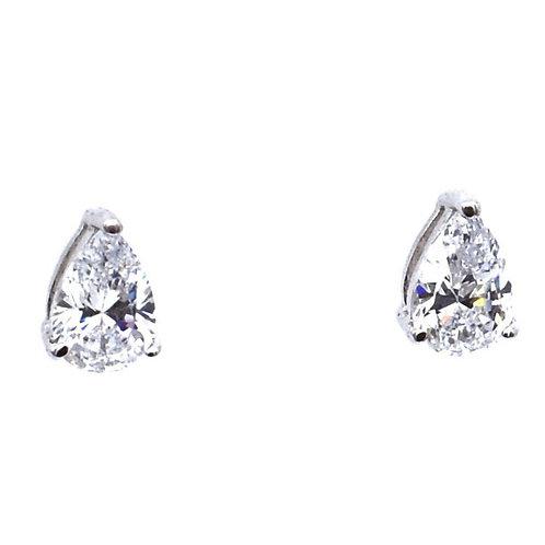 pear shaped stud earring