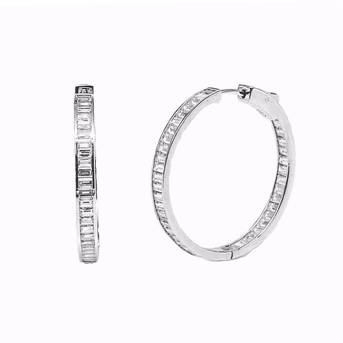 channel-set hoop earring