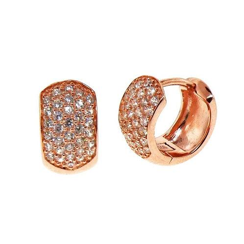 pave huggie earring