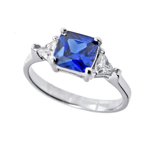 sterling silver tanzanite color cz ring