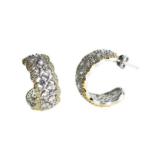 sterling silver fancy cz earring