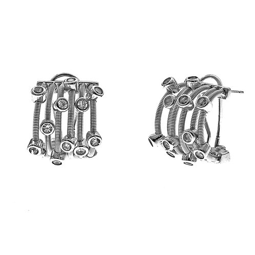sterling silver french clip earring