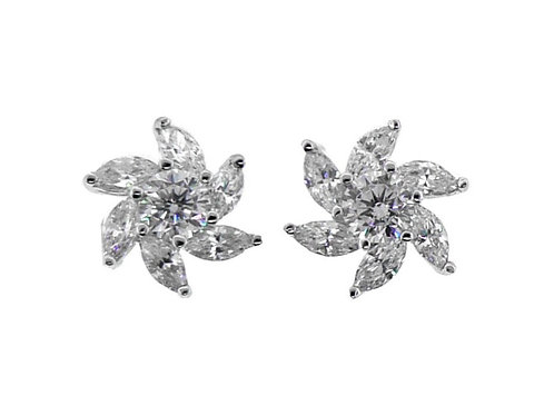 marquise cut earring