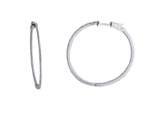 40mm pave hoop earring