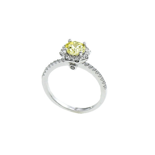 fancy yellow engagement ring