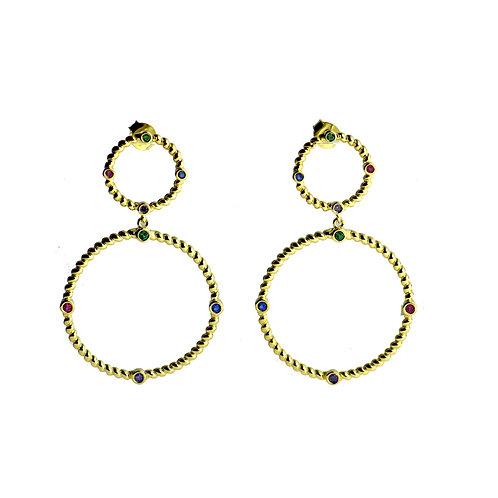 station hoop earring