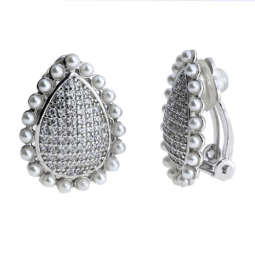 pear shaped clip earring