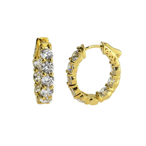 oval eternity hoop earring