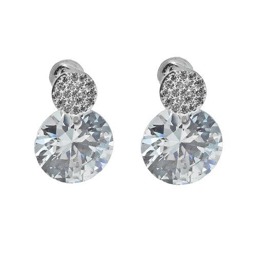 round swarovski crystal earring