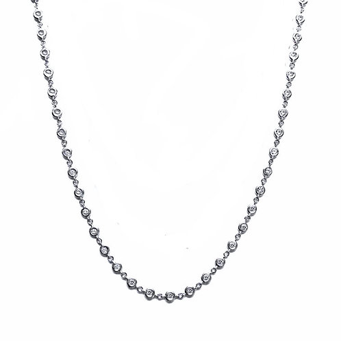 bezel-set station necklace
